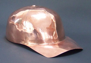 Copper baseball cap